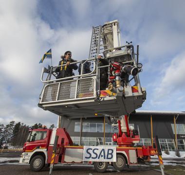 Bronto Skylift's HLA made of Strenx 650MPa to 900 MPa strength